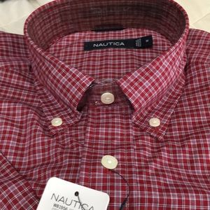 Nautica Button Collar Medium Short Sleeve Shirt